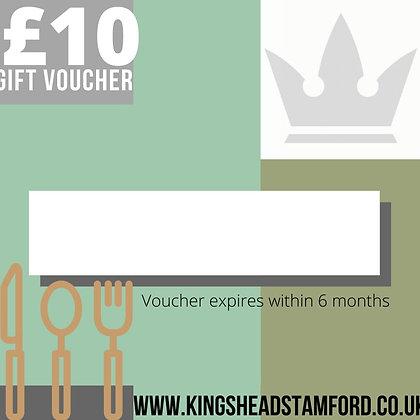 KINGS HEAD £10 or 25 GIFT VOUCHER