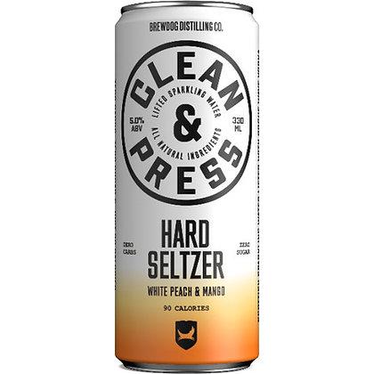 CLEAN & PRESS - PEACH MANGO SELTZER