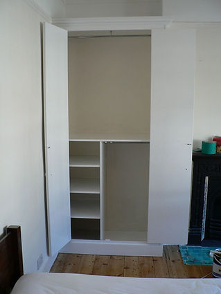 wardrobe interior - shelving