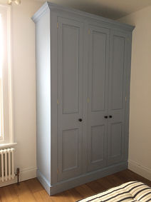 fitted painted 3 door wardrobe