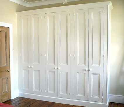 built-in 6 door traditional wardrobe