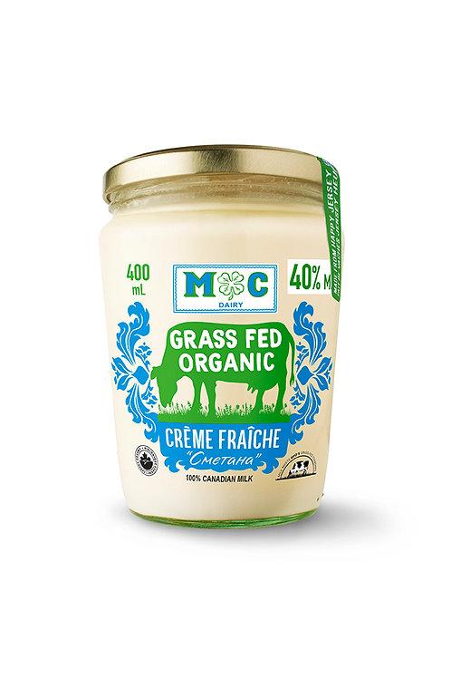 Grass Fed Organic Creme Fraiche 400ml
