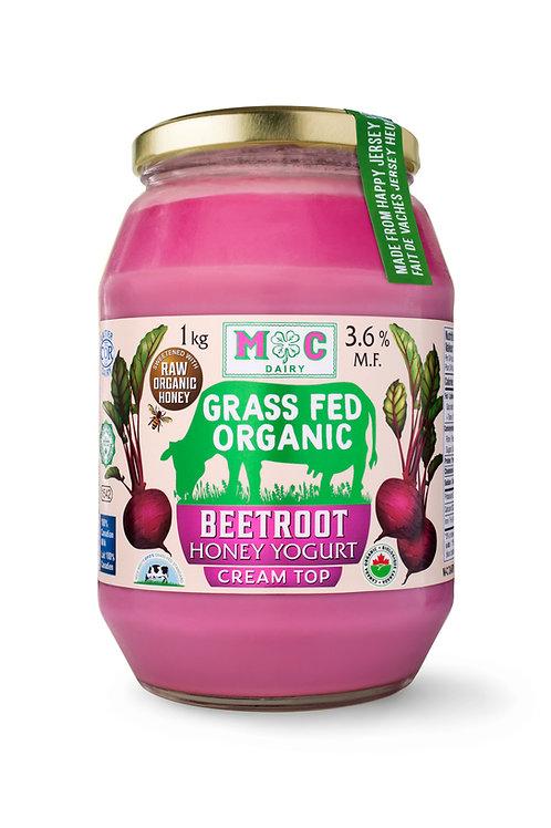 Grass Fed Organic Beetroot Honey Yogurt 1Kg
