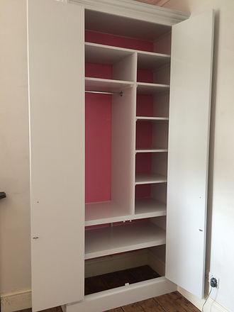 wardrobe interior - shelf layout