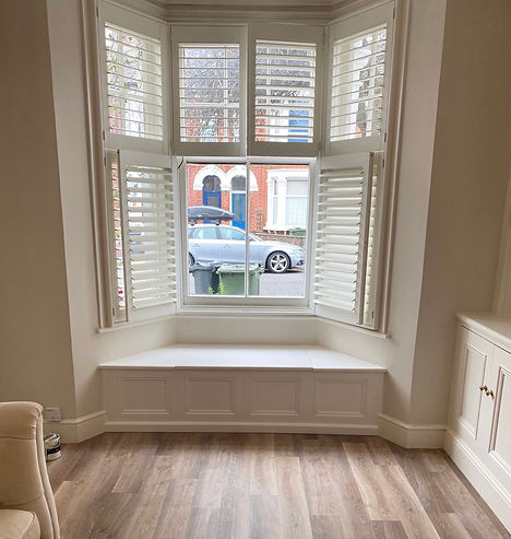 built-in window seat for storage
