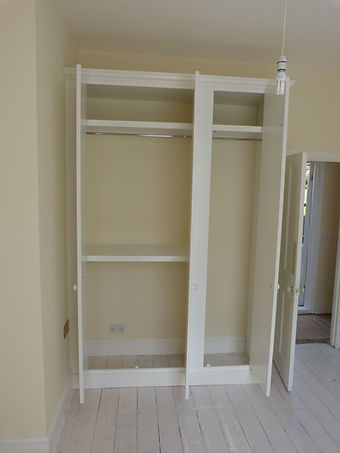 interior of wardrobe - shelving