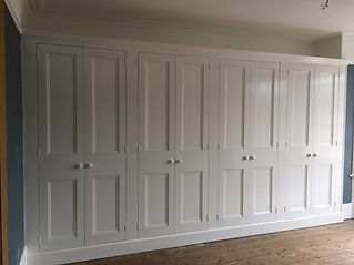 fitted painted 8 door wardrobe