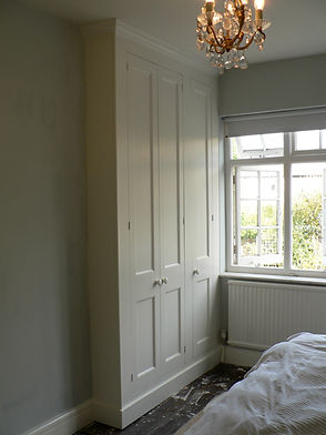 built-in three door wardrobe