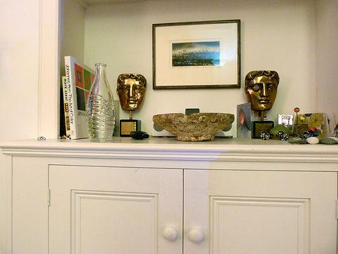 built-in 2 door alcove cupboard - detail