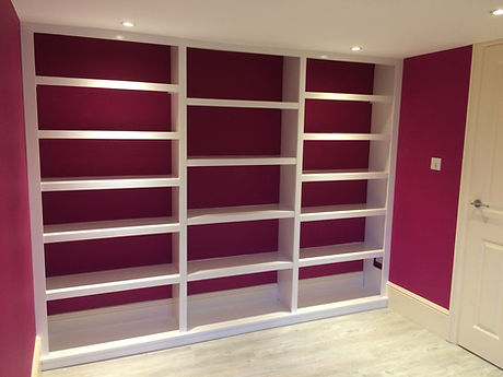 built-in wall to wall library bookcase