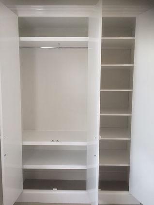 interior shelving in wardrobe