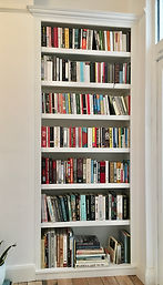 built-in classic painted alcove bookcase