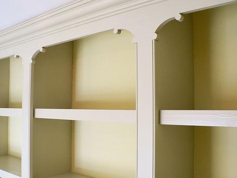 wall to wall bespoke decorative bookcase