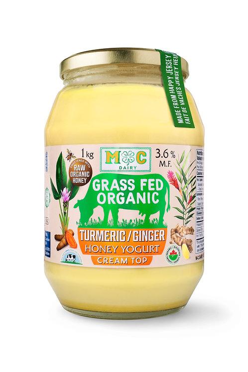 Grass Fed Organic Turmeric/Ginger Yogurt 1Kg
