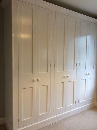 built-in Shaker style six door wardrobe