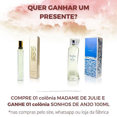 Deo colônia Madame de Julie 50 ml + deo colônia Sonhos de Anjo 100 ml