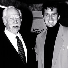 With friend Howard Keel B and w.jpg