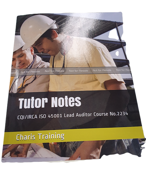 Tutor Notes ISO 45001