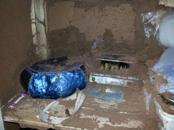 inside a sewing cupboard