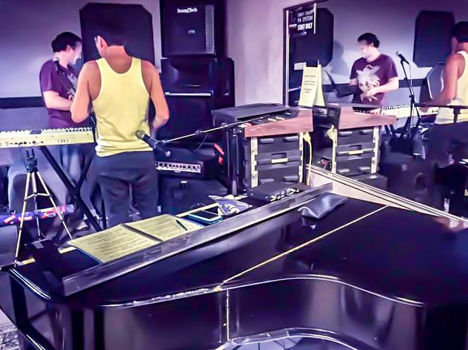 Bohemian Rhapsody rehearsal