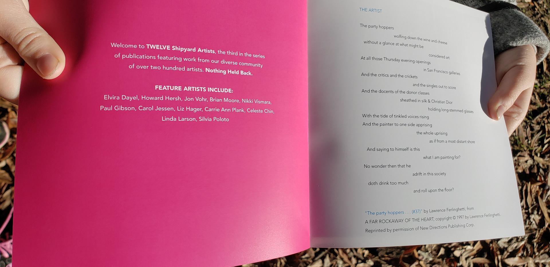 artist book: TWELVE (Hunter's Point Shipyard Artists)