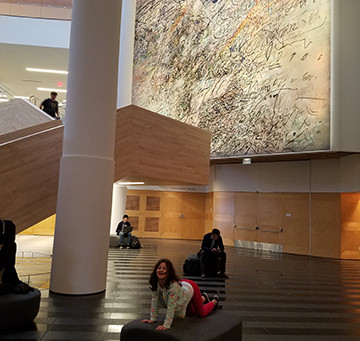 SF MOMA - Julie Mehretu's commissioned paintings for SF MOMA 2017