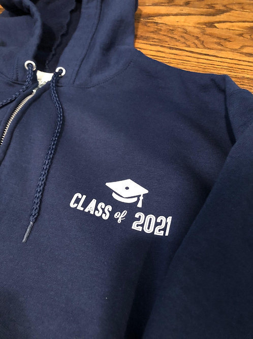 Men's Classic Zip-Up Hoodie with Text on Front and/or Back