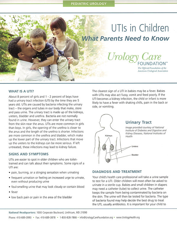 UTI's In Children Fact Sheet