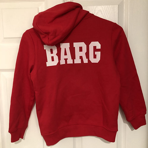 Women's Classic Zip-Up Hoodie with Text on Back