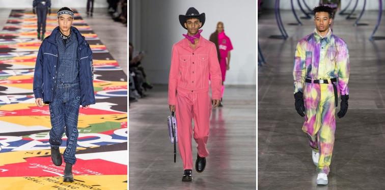 Modelos usando conjutos coloridos e estampados