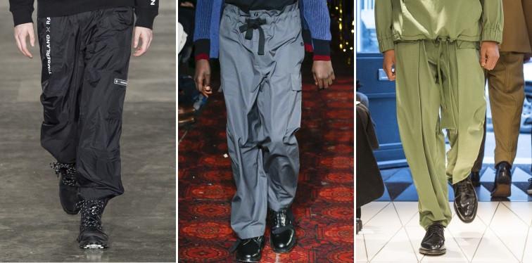 Modelos usando calças amplas