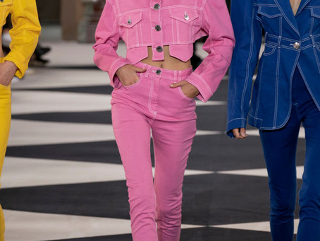 Rosa na semana de moda de Paris