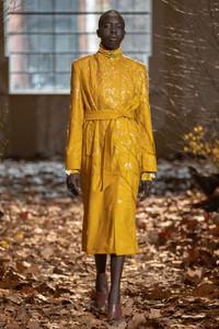 Modelo usando amarelo queimado