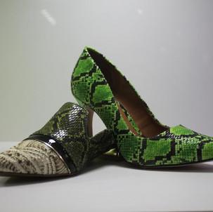 sapatos estampados snake