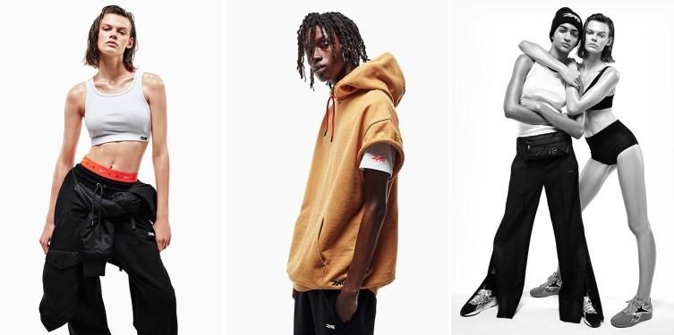 Modelos usando roupas esportivas