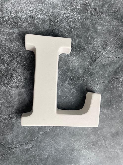 L letter plaque