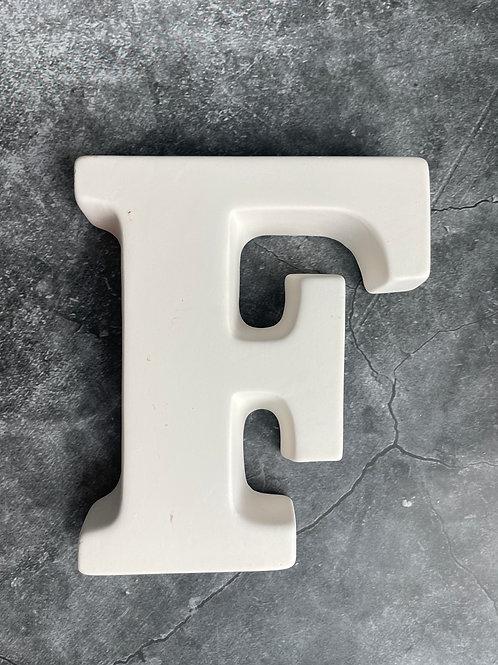F letter plaque