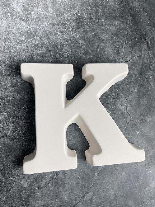 K letter plaque
