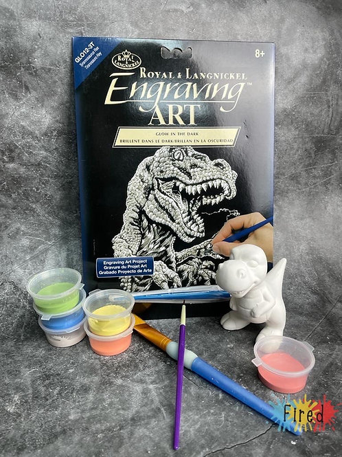 Dinosaur pottery and engraving art kit