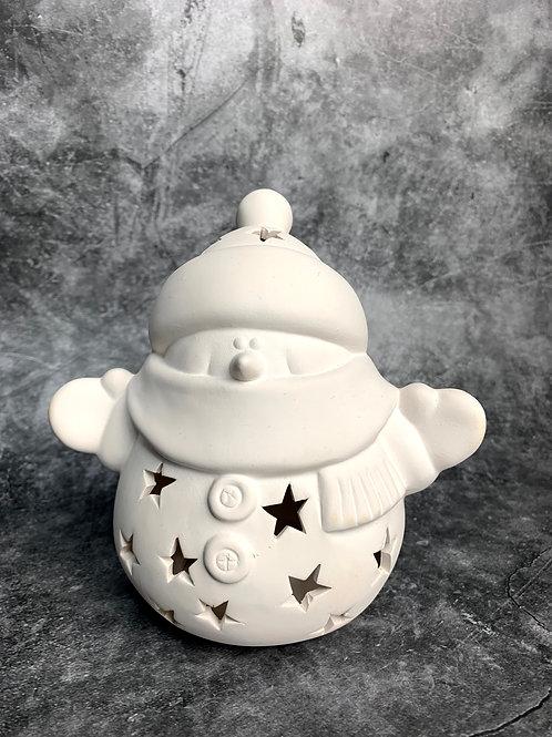 snuggles the snowman tealight