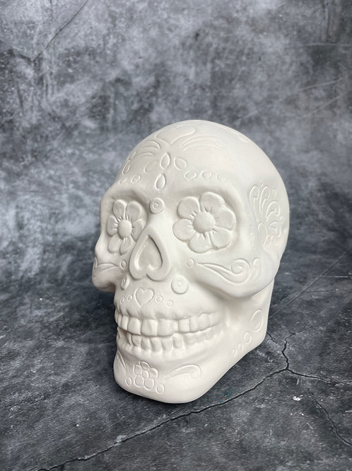 sugar skull money bank