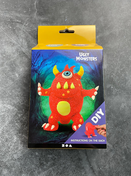 red ugly monster foam clay kit