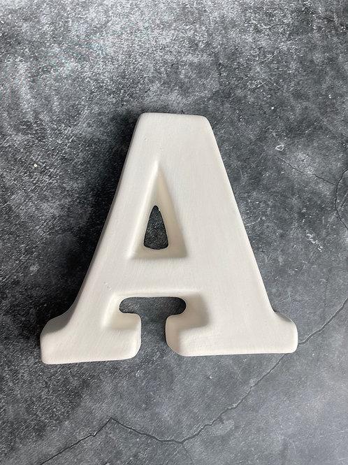 A letter plaque