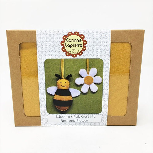 Bee & flower mini felt kit