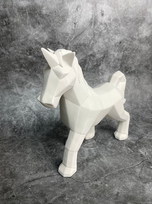 large facetted unicorn
