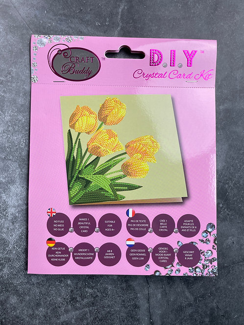 tulip crystal art card kit