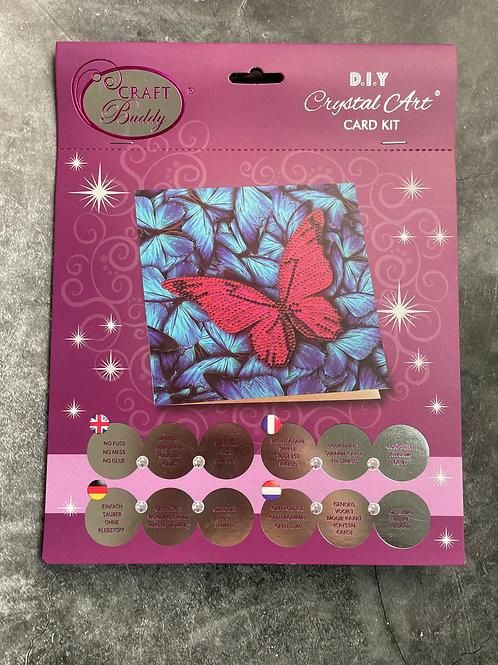 butterfly crystal art card kit