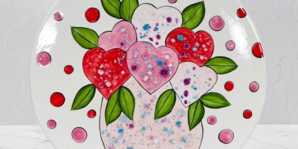 Heart Flower Plate Workshop