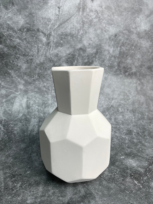 facetted bud vase small