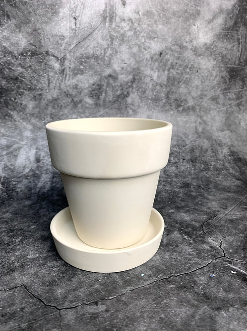 small plant pot with base